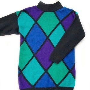Vintage • Silk and Angora Mock Neck Sweater